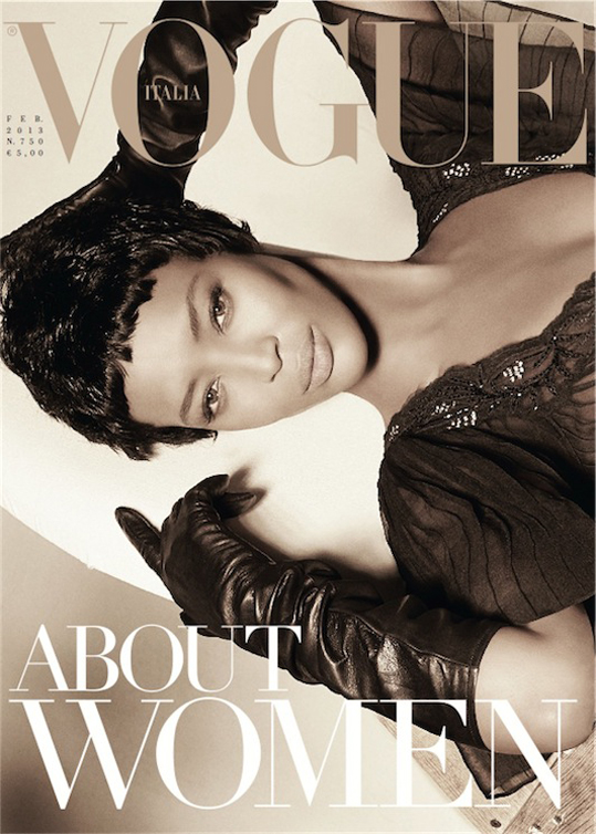 Vogue Italia February 2013 -Naomi Campbell by Steven Meisel